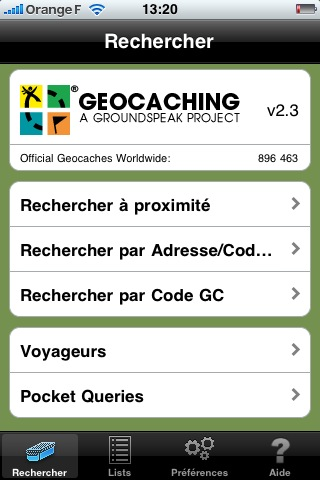 Geocaching by groundspeak